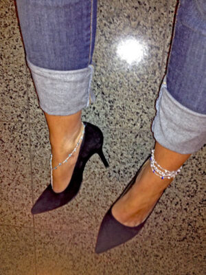 Evening wear Foot Dazzle by Lisa