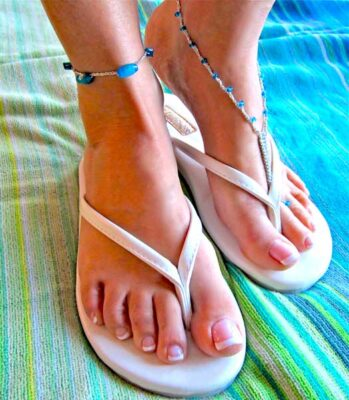 Beach Wear Foot Dazzle by Lisa