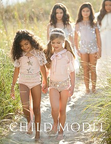 Child Model Magazine Foot Dazzle by Lisa